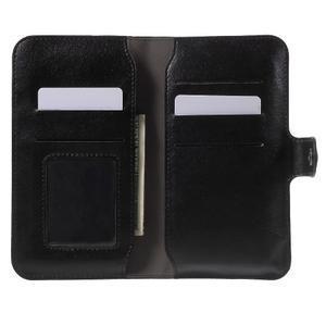 Peněženkové univerzální pouzdro na mobil do 140 x 68 x 10 mm - černé - 4