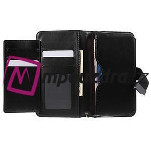 Luxusní univerzální pouzdro pro telefony do 140 x 70 x 12 mm - černé - 4