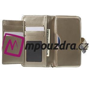 Luxusní univerzální pouzdro pro telefony do 140 x 70 x 12 mm - zlaté - 4