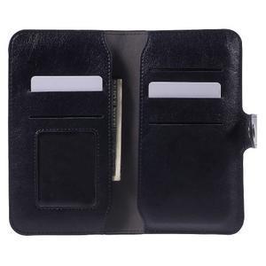 Peněženkové univerzální pouzdro na mobil do 140 x 68 x 10 mm - tmavěmodré - 4