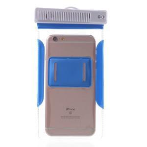 Nox7 vodotěsný obal na mobil do rozměru 16.5 x 9.5 cm - modrý - 4