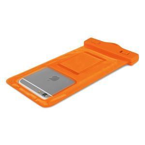 Base IPX8 vodotěsný obal na mobil do 158 x 78 mm - oranžový - 4