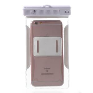 Nox7 vodotěsný obal na mobil do rozměru 16.5 x 9.5 cm - bílý - 4