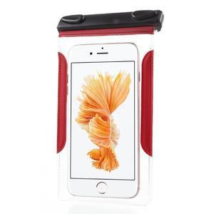 Nox7 vodotěsný obal na mobil do rozměru 16.5 x 9.5 cm - červený - 4