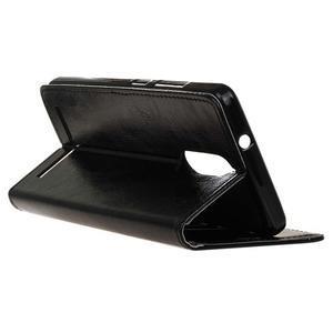 Horse PU kožené pouzdro na mobil Lenovo K5 Note - černé - 5