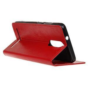 Horse PU kožené pouzdro na mobil Lenovo K5 Note - červené - 5