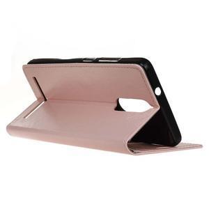 Horse PU kožené pouzdro na mobil Lenovo K5 Note - růžové - 5
