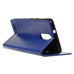 Horse PU kožené pouzdro na mobil Lenovo K5 Note - modré - 5