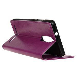 Horse PU kožené pouzdro na mobil Lenovo K5 Note - fialové - 5