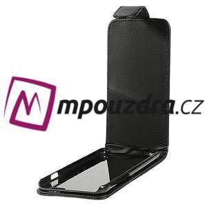 PU kožené flipové pouzdro na iPhone 6, 4.7 - černé - 5