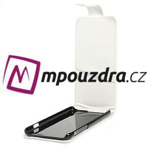 PU kožené flipové pouzdro na iPhone 6, 4.7 - bílé - 5