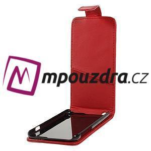 PU kožené flipové pouzdro na iPhone 6, 4.7 - červené - 5