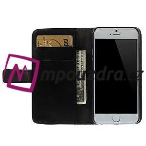 Peněženkové PU kožené pouzdro na iPhone 6, 4.7 - černé - 5