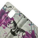Peněženkové pouzdro na Samsung Galaxy Note 4- fialový květ - 5/7