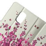 Peněženkové pouzdro na Samsung Galaxy Note 4- kvetoucí větvička - 5/7