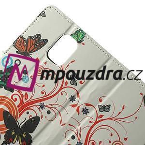Peněženkové pouzdro na Samsung Galaxy Note 4- barevní motýlci - 5