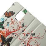 Peněženkové pouzdro na Samsung Galaxy Note 4- barevní motýlci - 5/7