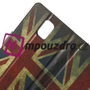 Peněženkové pouzdro na Samsung Galaxy Note 4- UK vlajka - 5