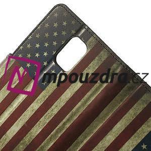 Peněženkové pouzdro na Samsung Galaxy Note 4- USA vlajka - 5