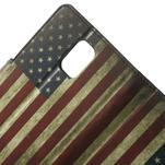 Peněženkové pouzdro na Samsung Galaxy Note 4- USA vlajka - 5/7
