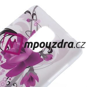 Gelové pouzdro na Samsung Galaxy Note 4- fialový květ - 5