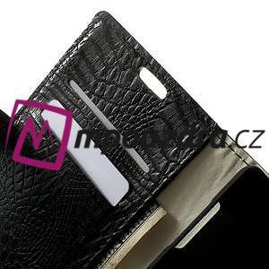 Peněženkové PU kožené pouzdro na Sony Xperia Z3 D6603 - černé - 5