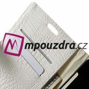 Peněženkové PU kožené pouzdro na Sony Xperia Z3 D6603 - bílé - 5