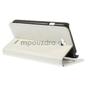 Peněženkové pouzdro na LG L65 D280 - bílé - 5
