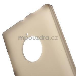 Gelové matné pouzdro na Nokia Lumia 830 - šedé - 5