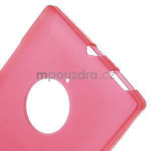 Gelové matné pouzdro na Nokia Lumia 830 - červené - 5