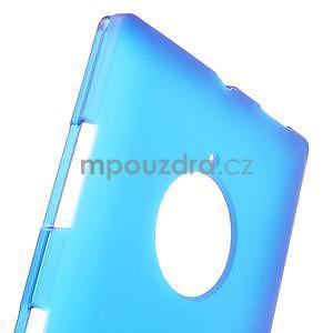 Gelové matné pouzdro na Nokia Lumia 830 - modré - 5