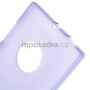 Gelové matné pouzdro na Nokia Lumia 830 - fialové - 5