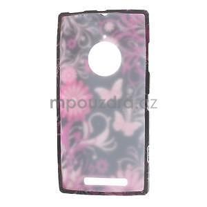Gelové pouzdro na Nokia Lumia 830 - motýl a květ - 5