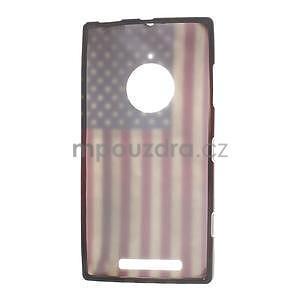 Gelové pouzdro na Nokia Lumia 830 - USA vlajka - 5