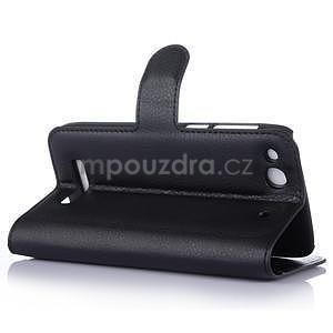 Peněženkové pouzdro na Alcatel One Touch Idol Alpha 6032 A - černé - 5