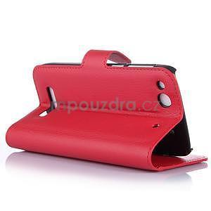 Peněženkové pouzdro na Alcatel One Touch Idol Alpha 6032 A - červené - 5