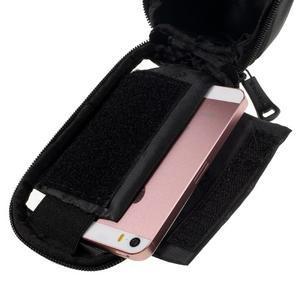 Prostorná brašnička na kolo na mobil do rozměru 124 x 59 x 7,6 mm - modrý lem - 5