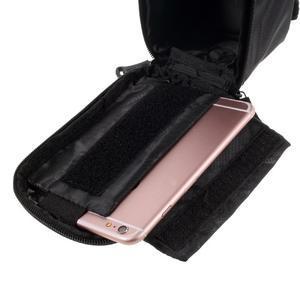 Prostorná brašna na kolo pro mobilní telefony do rozměru 158,1 x 78 x 7,1 mm - červený lem - 5
