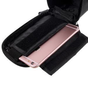 Prostorná brašna na kolo pro mobilní telefony do rozměru 158,1 x 78 x 7,1 mm - zelený lem - 5