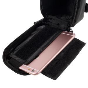 Prostorná brašna na kolo pro mobilní telefony do rozměru 158,1 x 78 x 7,1 mm - modrý lem - 5