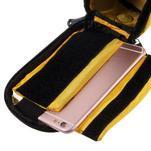 Prostorná brašna na kolo pro mobilní telefony do rozměru 158,1 x 78 x 7,1 mm - žlutá - 5/6
