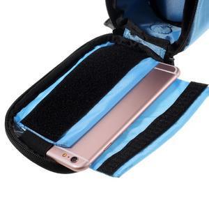 Prostorná brašna na kolo pro mobilní telefony do rozměru 158,1 x 78 x 7,1 mm - modrá - 5