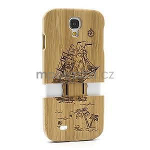 Dřevené pouzdro rozepínací na Samsung Galaxy S4 - loď - 5