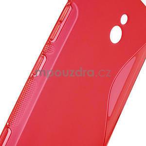 Gelové S-line pouzdro pro Nokia Lumia 1320- červené - 5