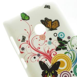 Gelové pouzdro na Nokia Lumia 520- barevné motýlci - 5