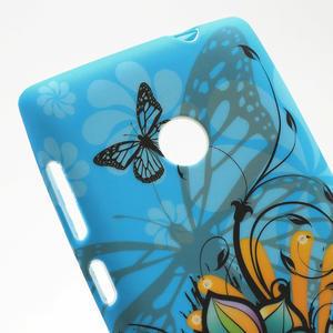 Gelové pouzdro na Nokia Lumia 520- motýl - 5