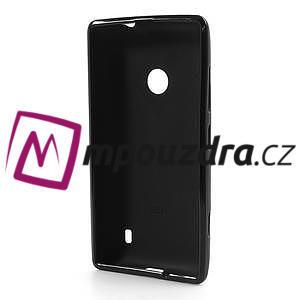 Gelové matné pouzdro na Nokia Lumia 520 - černé - 5