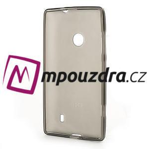 Gelové matné pouzdro na Nokia Lumia 520 - šedé - 5