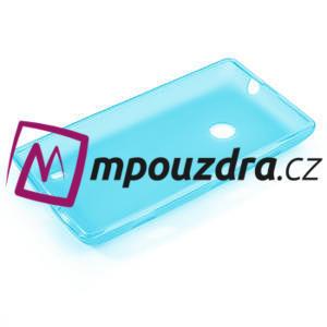 Gelové matné pouzdro na Nokia Lumia 520 - světlemodré - 5