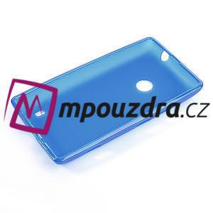 Gelové matné pouzdro na Nokia Lumia 520 - modré - 5
